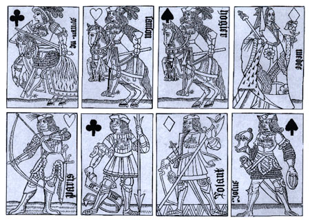 [French court cards, late 15th cent.]